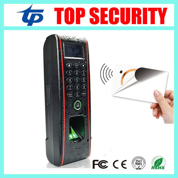 Free shipping IP65 waterproof TCP/IP standalone fingerprint access control with MF card reader linux system door access control