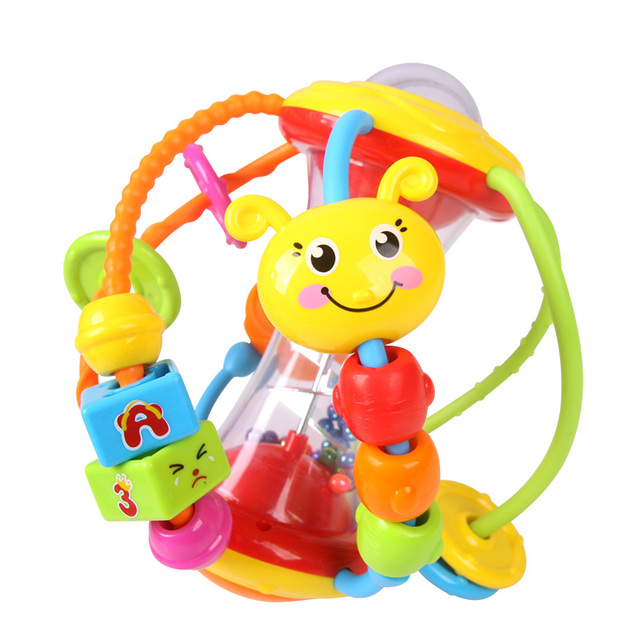 hot sale colorful baby toys ball baby rattles educational toys for babies grasping ball puzzle multifunction