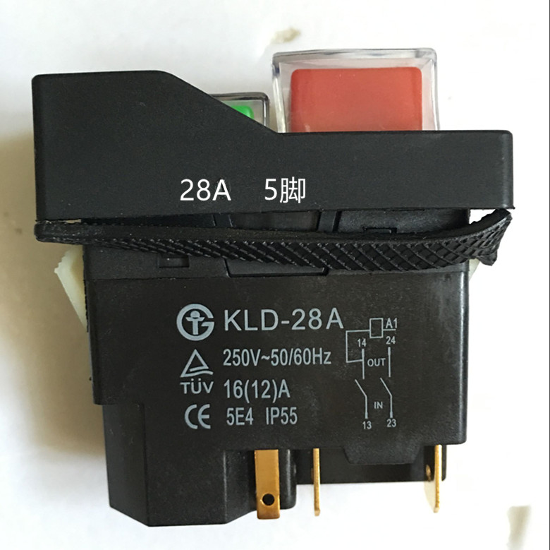 5pcs Solenoid switch, magnetic switch, KLD-28A 220V button switch, KJD17 slicer switch genuine switch