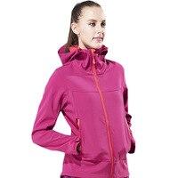 Outono e inverno novos produtos das Mulheres sportswear Jaquetas de Lã quente à prova d' água à prova de vento de casca mole Com Capuz Costura