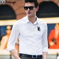 2016 long sleeve bamboo fiber men casual shirt thin plus size men business dress shirts soft men camisa masculina