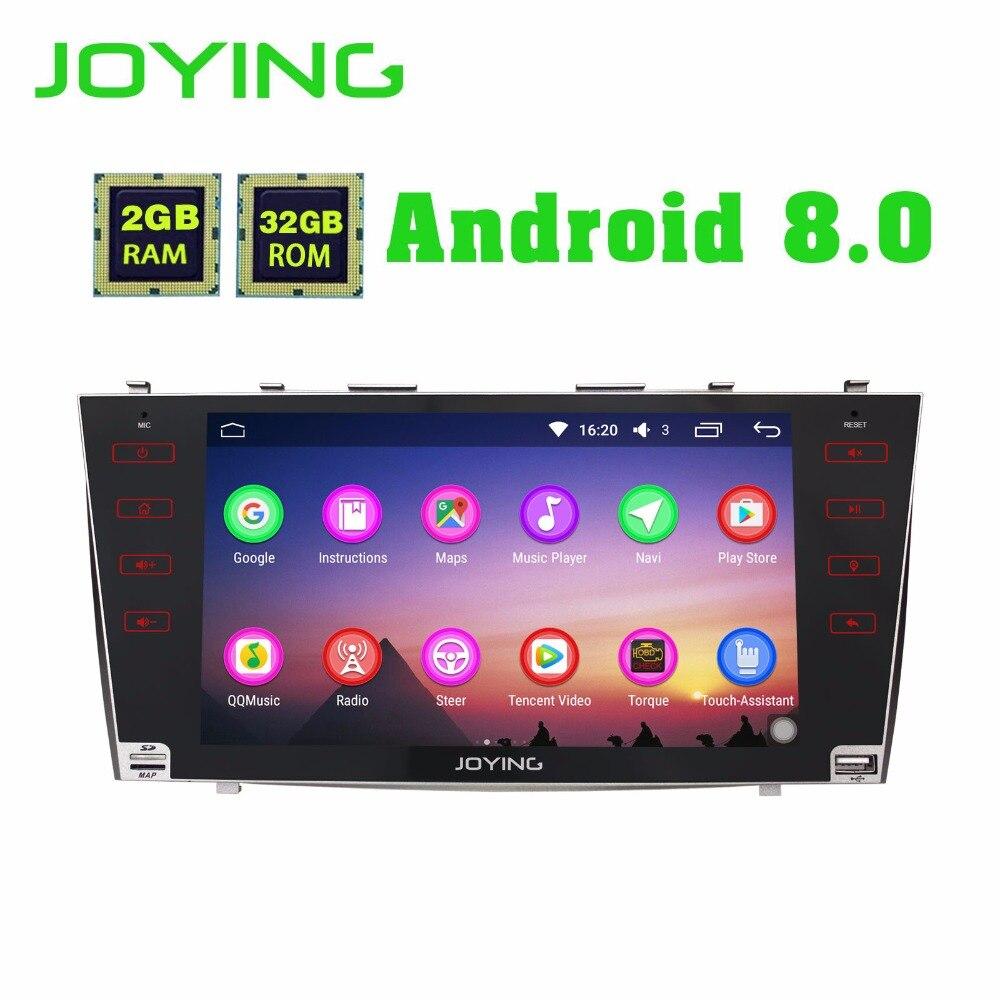 JOYING 2 GB RAM Android 8.0 Voiture stéréo BT Radio player pour TOYOTA CAMRY écran tactile volant GPS Navi tête unité pour AURION