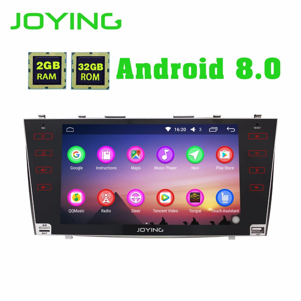JOYING 2GB RAM Android 8.0 Car stereo BT Radio player for TOYOTA CAMRY touch Screen steering wheel GPS Navi head unit for AURION