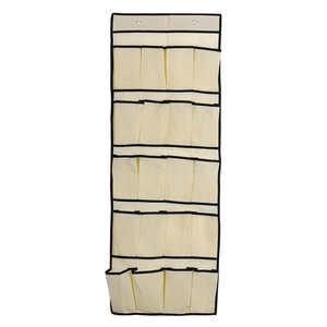 Image 4 - Estante de almacenamiento creativo de 20 bolsillos colgante sobre la puerta organizador de zapatos bolsa de almacenamiento caja de gancho de armario estante de Ducha
