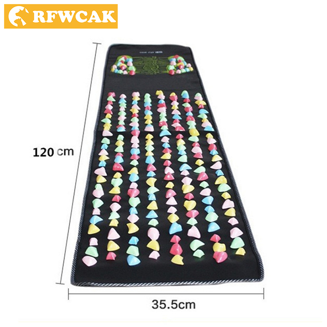 RFWCAK Foot Massage Mat Plastic Stone Pad Fitness Non-slip Walking Carpet Acupuncture Massage Acupuncture Cobblestone Relax Mat