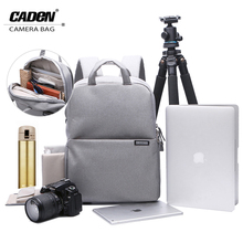 CADEN Camera Backpacks Photo Bags Soft Shoulders Wine Slivery Gray Red Waterproof Bag Men Women Backpack For Canon Nikon L5