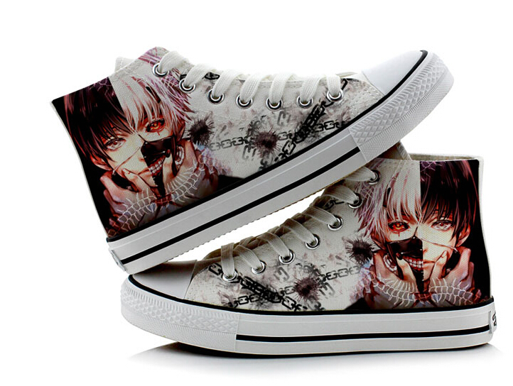 Tokyo Ghoul Cosplay Canvas Shoes Casual Shoes High Top Shoes Men And Women Student Shoes Size 35-43