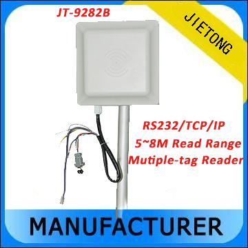 Impinj R2000 Long Range Reading UHF RFID Reader with TCP/IP Interface Communication + Free SDK and Free Card 2015 2 45g long reading range omnidirectional reader for safety in shenzhen