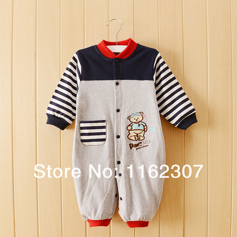 Happy baby clothing shop Free shipping High quality Baby rompers hot sale children pajamas cheap price long sleeve underwear