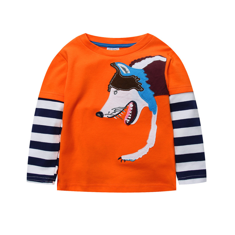 Jumpingbaby 2018 Kids Clothes Boys T shirt Children Long Sleeve T-shirt Cotton CamisetaCostumes For Baby Roupas Infantis Menino 2017 kids clothes children boys summer clothing sets baby spiderman batman short sleeve suits roupas infantis menino costume