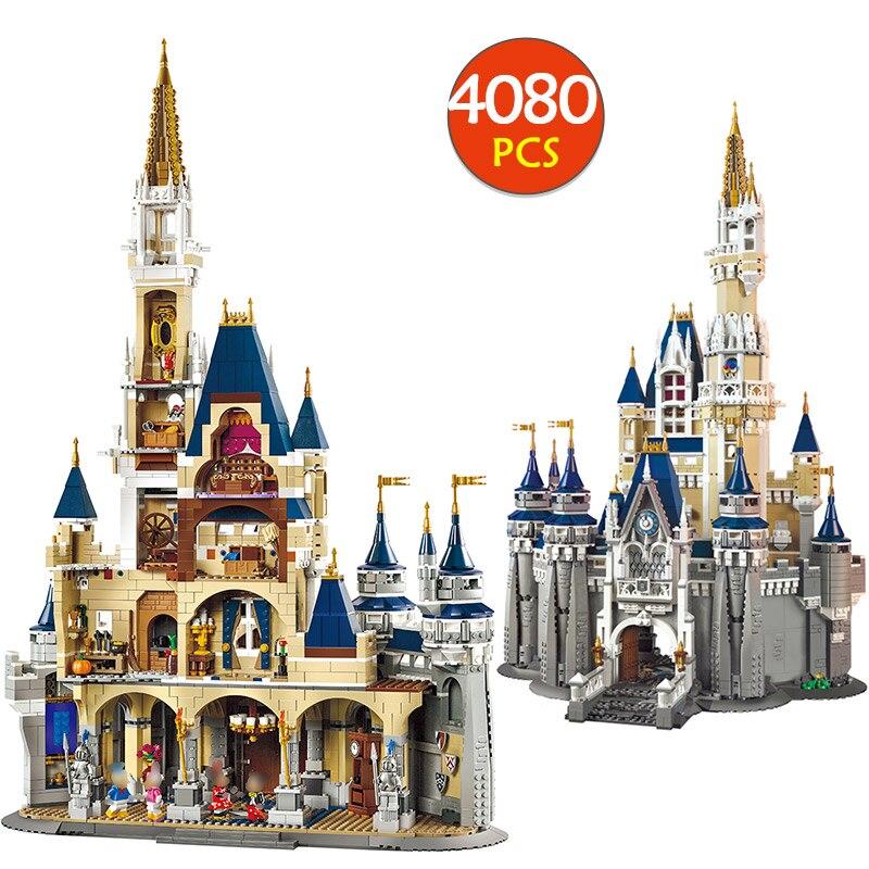 Город Street View Конструкторы LegoINGLYS 71040 Принцесса замок девушка серии Модель Building Block кирпичи малыш игрушечные лошадки для детей обувь