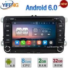 2 ГБ RAM 32 ГБ ROM 7 «Octa Ядро Android 6.0 Автомобильный DVD Радио-Плеер Для Volkswagen Jetta Golf Eos Tiguan Touran Skoda Roomster Superb