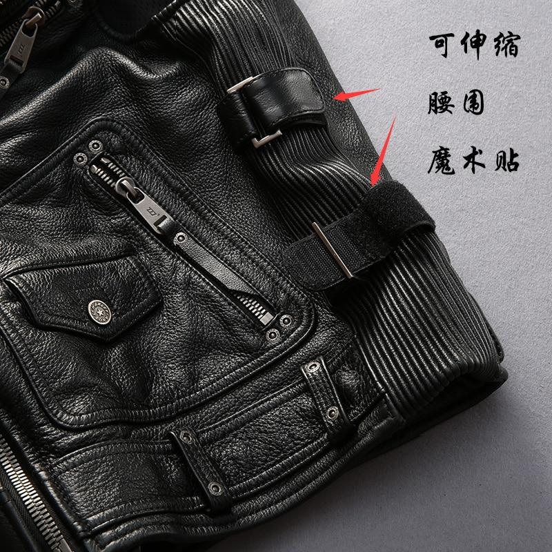 superkvalitativ För cool Harley rider Mens ko läderväst äkta - Herrkläder - Foto 2