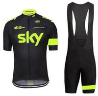 Sky Cycling Jerseys Sets 2017 Pro Team Quick Dry Mesh Cycling Clothing Mtb Road Bike Outdoor