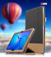 """Funda Para Huawei MediaPad MDFUNDAS T3 10.0 AGS-L09 AGS-W09 Coque Cubierta de Cuero Para El Honor de dos Costuras de Color Tablet 2 9.6 """"Funda"""