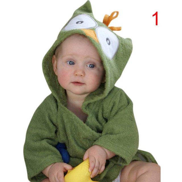 Súper Bebé Caliente Pijamas Robe Niñas Albornoces Homewear Del Bebé Muchachas de Los Muchachos de la Historieta Home Desgaste Niña Bata Enfant Peignoire