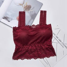 Sexy Women's Lace Tube Top Sexy Casual Lace Embroidered Camis Female Tank Top