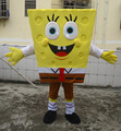 Free Shipping Adult Size Sponge Bob Mascot Costume SpongeBob Cartoon Costume
