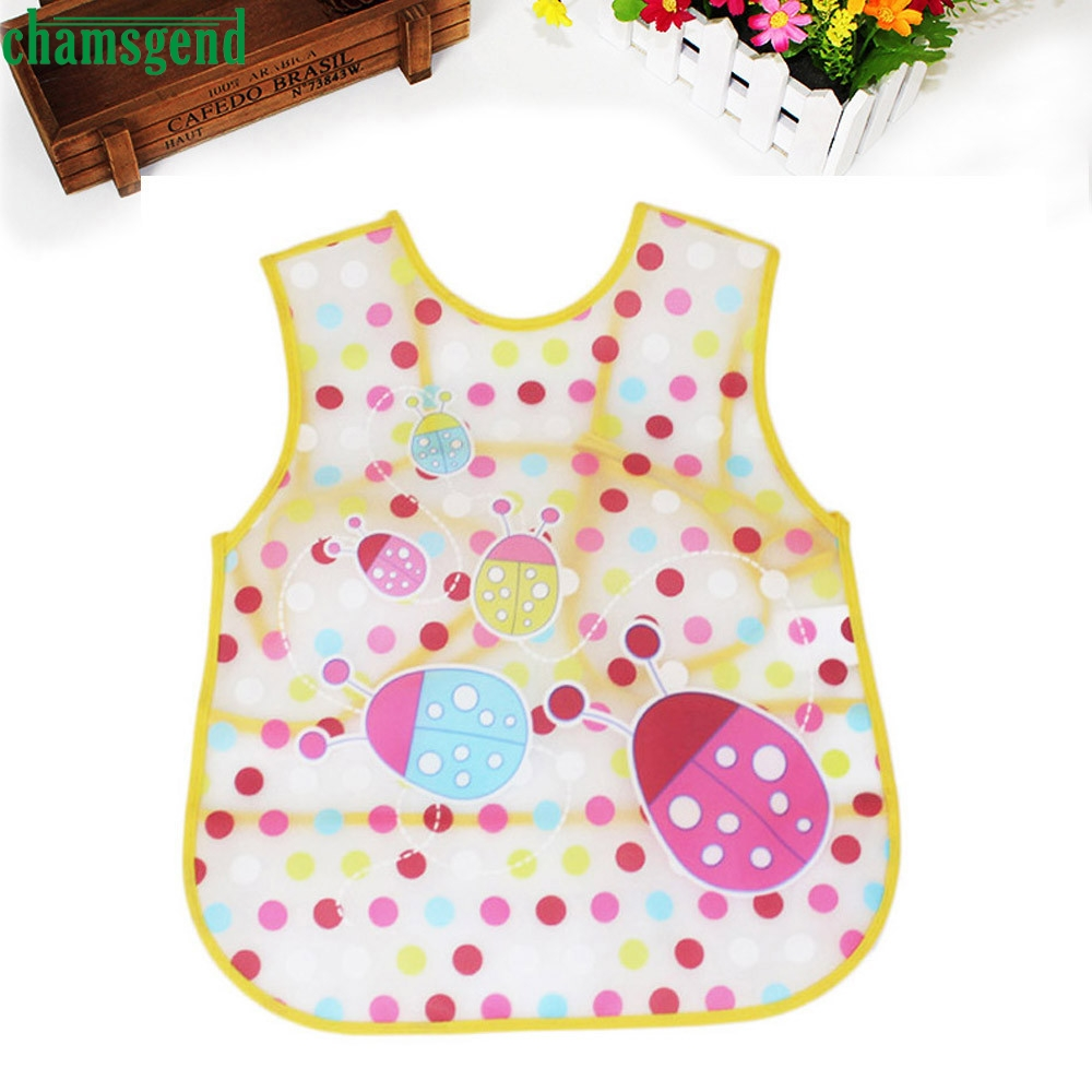 CHAMSGEND new hot cute Baby Kids Boys Girls vest Waterproof Feeding Apron Saliva Towel food Bib mouth water Smock dropship p30