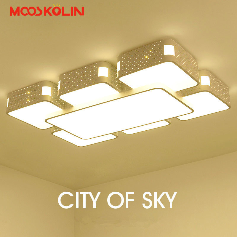 Rectangle Acrylic Modern led Ceiling lights For Living room Bedroom Lamparas de techo colgante Square led Ceiling lamp Fixture black or white rectangle living room bedroom modern led ceiling lights white color square rings study room ceiling lamp fixtures