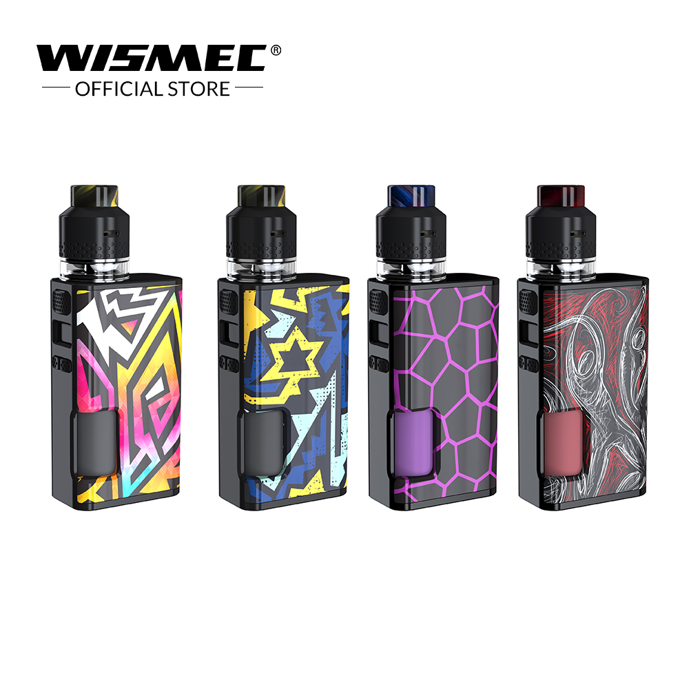 Wismec Luxueux Surface Kit avec 4 ml CRÉCERELLE Réservoir 6.5 ml Bouteille 80 W Luxueux Surface Boîte MOD cigarette électronique kit