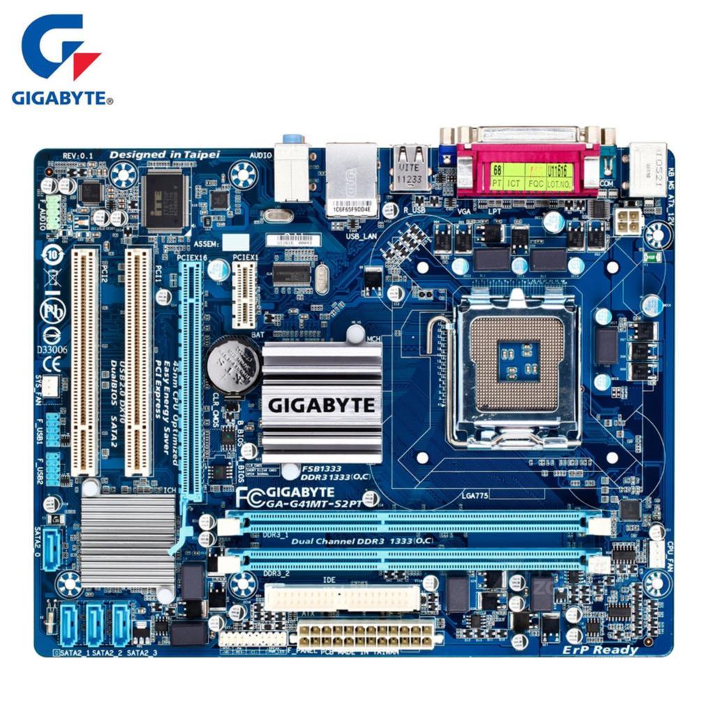 Gigabyte GA-G41MT-S2PT 100% Original Motherboard LGA 775 DDR3 8G G41 G41MT-S2PT Desktop Mainboard SATA II Systemboard Used