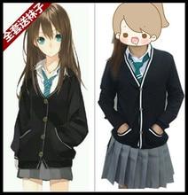 Anime Rin Shibuya Cosplay Mujeres Japón Preppy JK Uniforme Escolar Girls Sweater + Camisa + Falda + Tie + calcetines