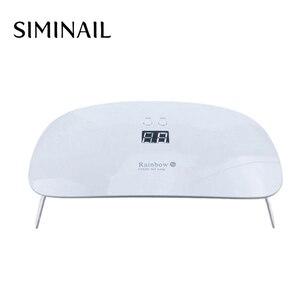 SIMINAIL 24 Вт Светодиодная УФ-лампа для ногтей УФ-светильник Сушилка для ногтей мини для всех типов гель-лака Маникюр белый аппарат для лечения ...