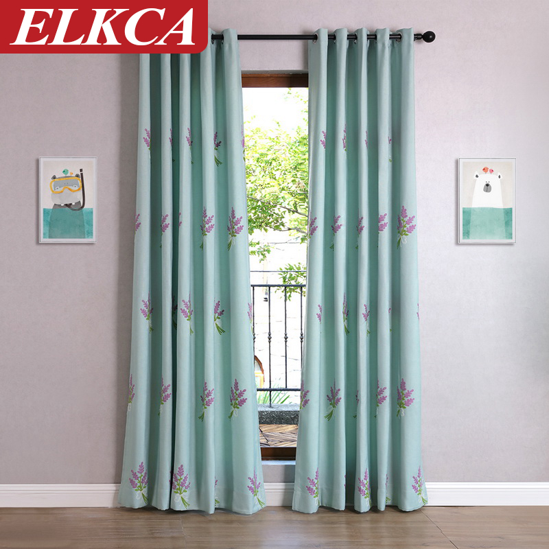 Faux Linen Luxury Floral Embroidered Curtains For Living Room Velvet Bedroom Modern