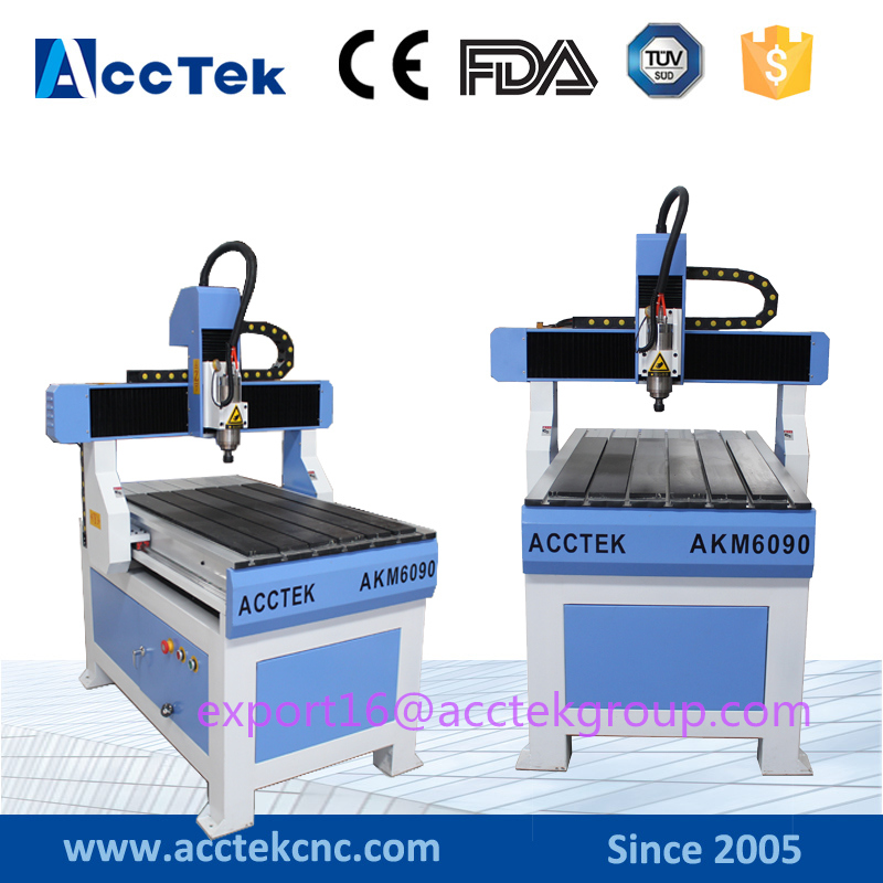 AccTek AKM6090 mini cheap cnc router laser wood cutting engraving machine price