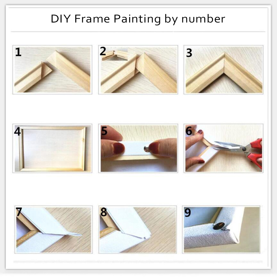 Painting By Numbers Diy Pictures House Landscape Oil Paint Drawing Coloring On Canvas By Hand Framework Wall Modular Artwork in Painting Calligraphy from Home Garden