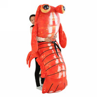Fancytrader Jumbo Pop Anime Mantis Shrimp Plush Toy Giant Stuffed Soft Simulated Sea Animals Lobster Doll for Adult and Children