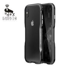חדש יוקרה באיכות גבוהה LUPHIE אלומיניום מתכת פגוש עבור iphone X XS MAX XR 6 6s 7 8 בתוספת מקרה מסגרת עם מתכת כפתור