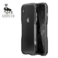 Mới Cao Cấp Sang Trọng Luphie Nhôm Kim Loại Ốp Lưng Cho iPhone X XS Max XR 6 6 S 7 8 Plus ốp Lưng Khung Với Nút Kim Loại