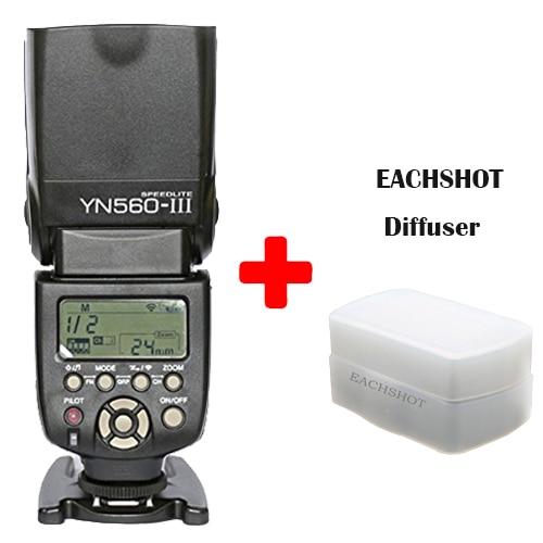 Yongnuo YN560 III YN-560 III YN560III Universal Wireless Slave Flash Speedlite For  Nikon + diffuser for giftYongnuo YN560 III YN-560 III YN560III Universal Wireless Slave Flash Speedlite For  Nikon + diffuser for gift