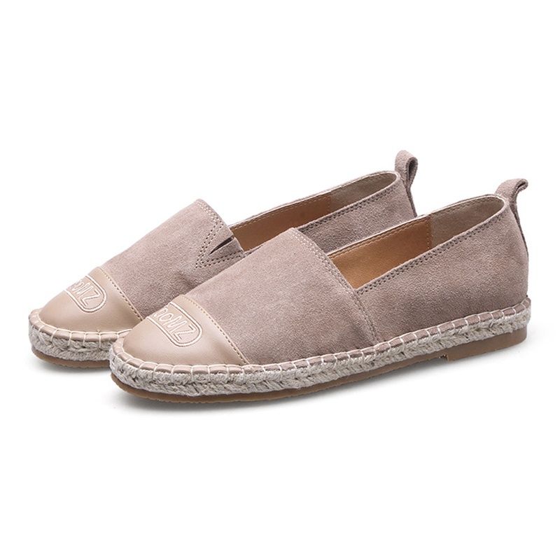 2018 Women's Espadrilles Flats Shoes Cow   Suede     Leather   Boat Shoes For Women Light Breathable Fashion Student Fisherman Shoes 41
