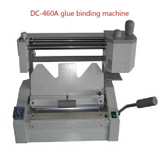 DC-460A book binding machine desktop glue binding machine Hot melt booklet maker