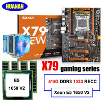 All Tested Build Computer HUANAN DELUXE X79 Motherboard Xeon E5 1650 V2 With CPU Cooler RAM