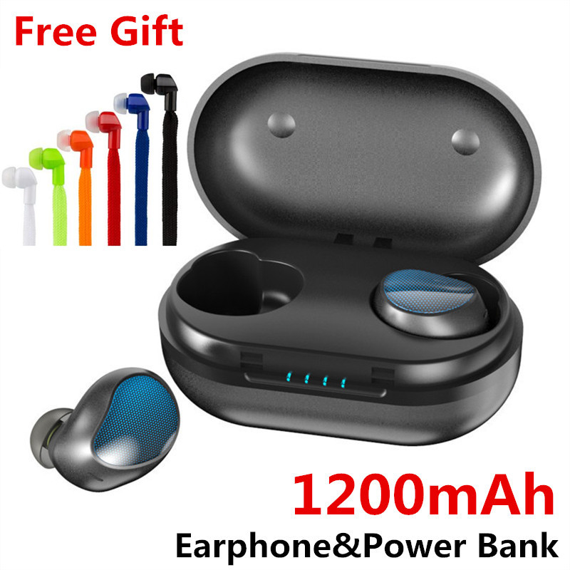 TWS Bluetooth V5.0 Earphone for Phone HD Communication Portable True Wireless Stereo Earbud Waterproof Headset With Microphone
