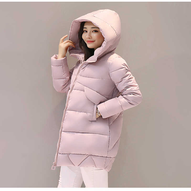 冬のジャケット冬コート女性2018冬と秋着用高品質冬ジャケット女性生き抜くロングパーカー厚いコート