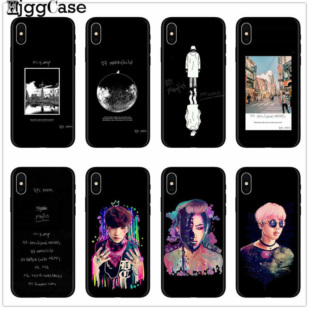RM Mono 2018 Mixtape Black Version phone case for iPhone X XR XS Max 8 7 6s Plus 5s for Samsung s8 s9 plus s7Edge phone case