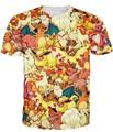 Das Mulheres dos homens Hipster 3D t shirt Bonito Dos Desenhos Animados Pokemon Charmander de manga Curta Engraçado/Charmeleon Imprimir camiseta harajuku Anime tee Tops