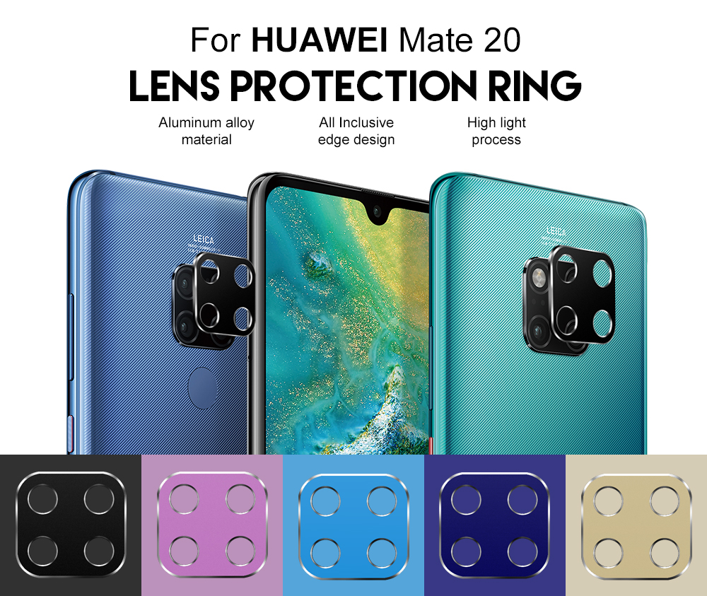 PORTEFEUILLE For HUAWEI Mate 20 Pro coque metal aluminum Camera Lens Screen Protector Full Bark Cover Film For HUAWEI Mate 20 X (3)