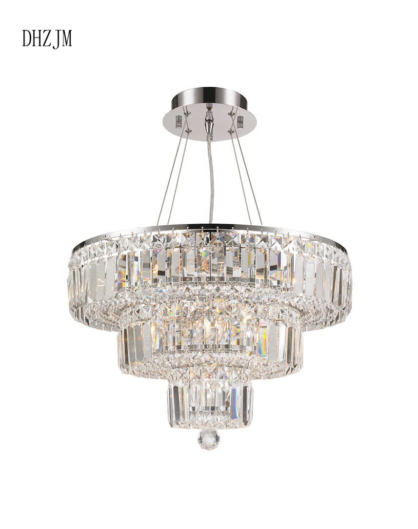 Us 885 0 Modular 5 Tier Crystal Chandelier 66cm Square Chrome Fixtures Lighting Led Home In Chandeliers From Lights