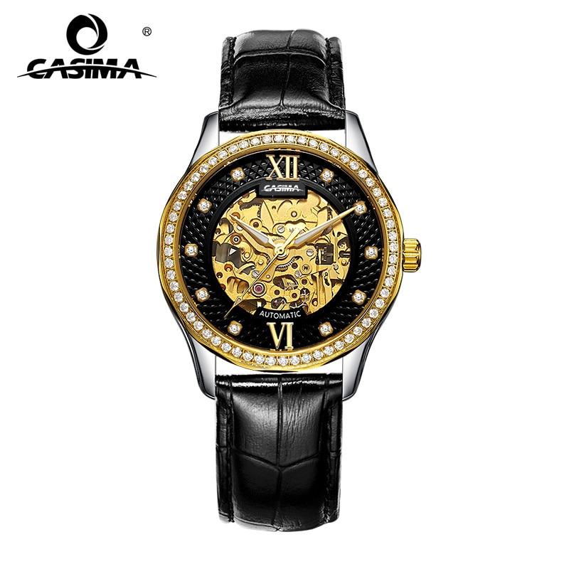 купить CASIMA Automatic Mechanical Watches Men Business Dress Classical Charm Men's Watch Waterproof 100m #8805 недорого