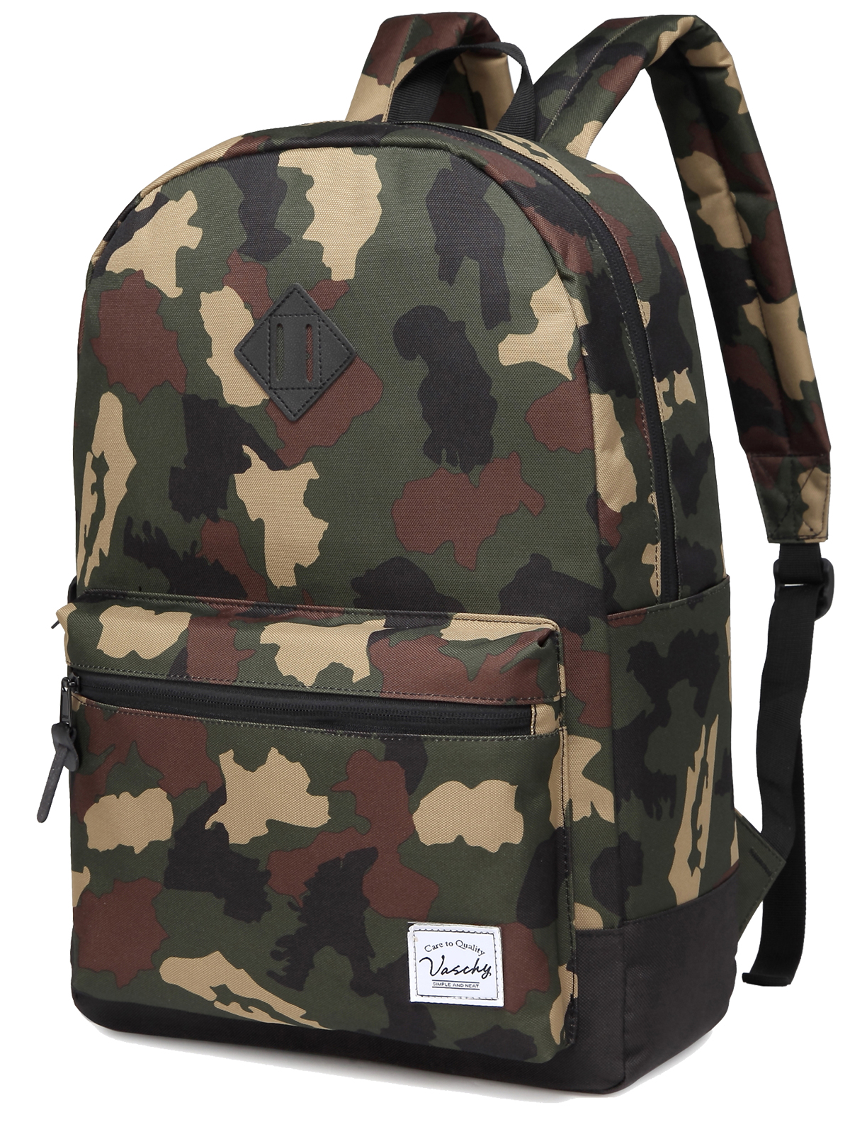 Vaschy Men Camo Backpack Fashion Casual