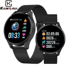 Q9 Bluetooth Fitness Tracker Bracelet  Women Stainless Wristband Smart Watch Men Heart Rate Monitor