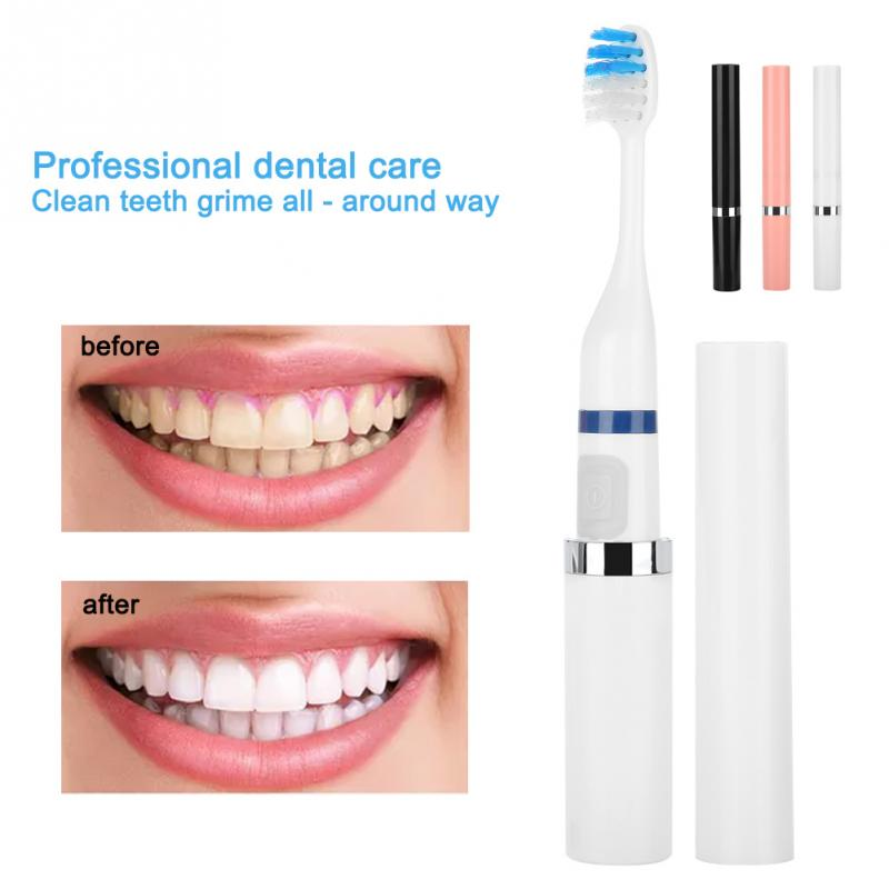 Professional Electric Toothbrush Children Adult Battery Operated Tooth Brushes Gum Health Waterproof Best Gift image
