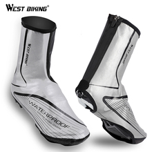 WEST BIKING Outdoor Cycling Shoe Cover Reflective Windproof Warm Boot Waterproof Overshoes Hiking Equipment