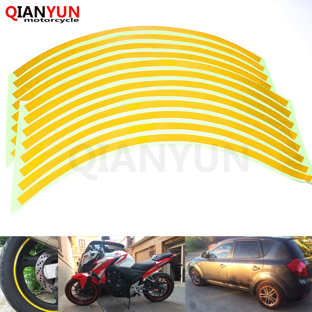 Motorcycle Styling Wheel Hub Tire Reflective Sticker Car Decorative Stripe Decal For HONDA MSX 125 MSX125 CBR 600 F3/F4/F4i